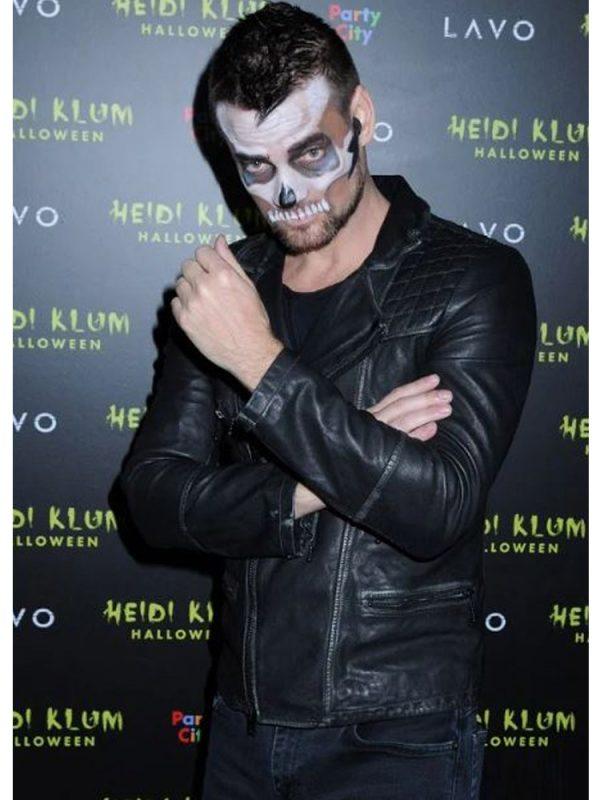 adam-lambert-halloween-party-leather-jacket