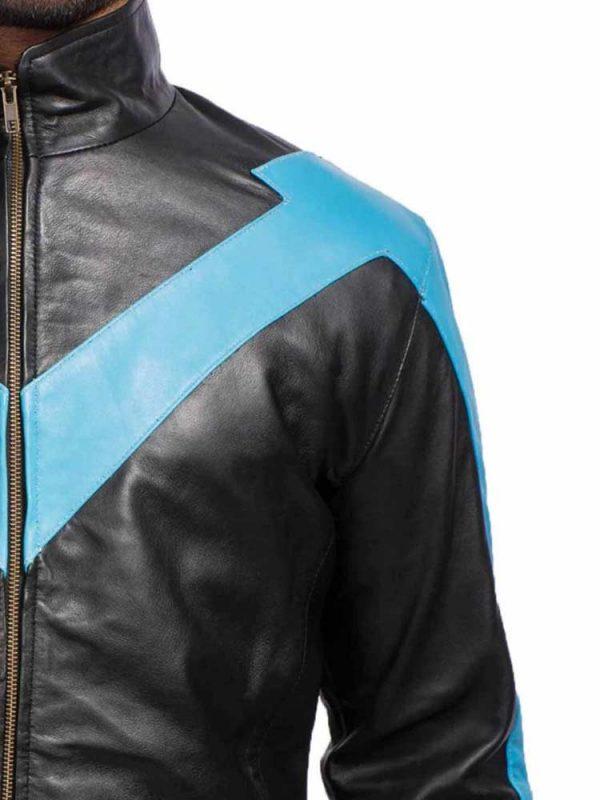 batman-nightwing-blue-leather-jacket