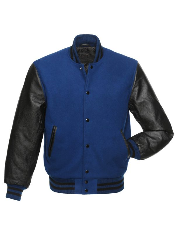 blue-and-black-varsity-jacket