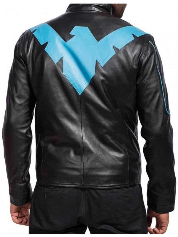 dick-grayson-batman-nightwing-blue-leather-jacket
