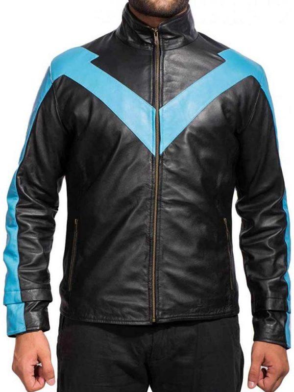 dick-grayson-blue-leather-jacket