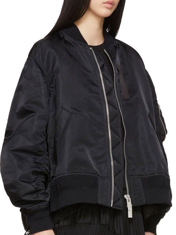 jodie-comer-killing-eve-black-bomber-jacket