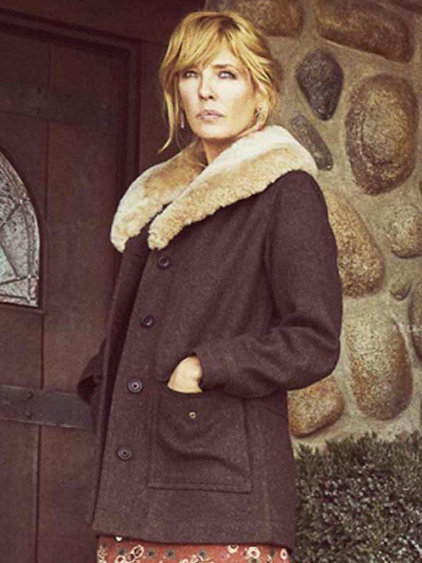 kelly-reilly-yellowstone-fur-shawl-collar-coat