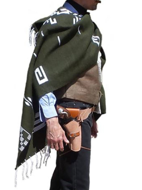 man-with-no-name-green-poncho