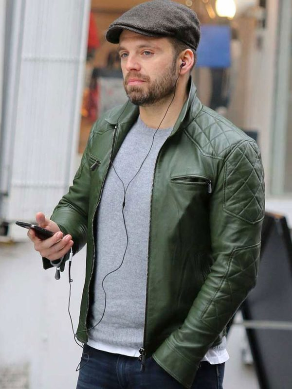 sebastian-stan-green-leather-jacket