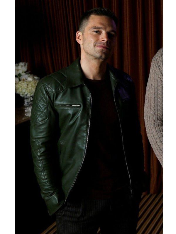 sebastian-stan-quilted-green-jacket