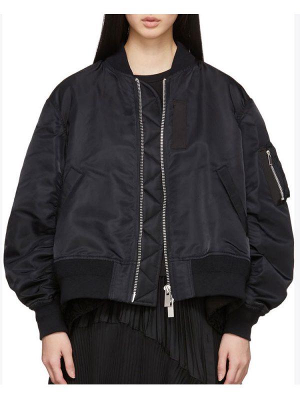 villanelle-black-bomber-jacket