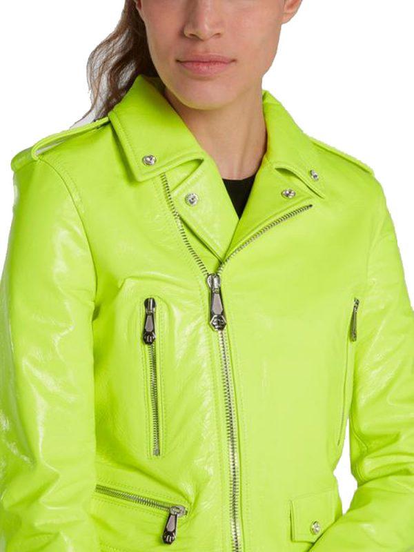 womens-neon-leather-biker-jacket