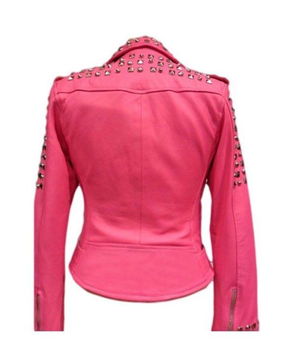 womens-pink-biker-leather-jacket