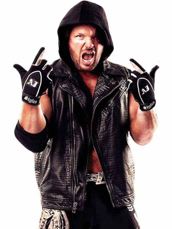 wwe-aj-styles-vest-with-removable-hood