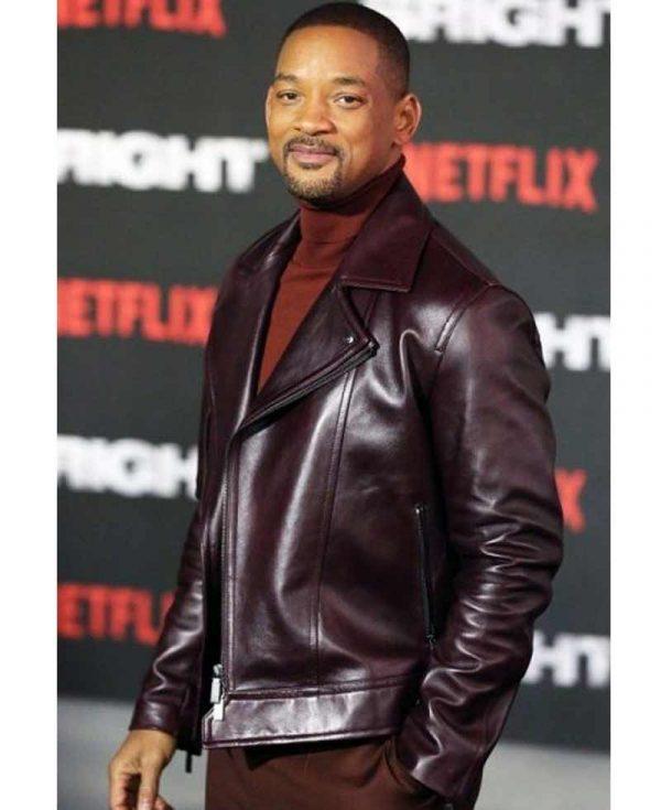 aladdin-will-smith-burgundy-leather-jacket