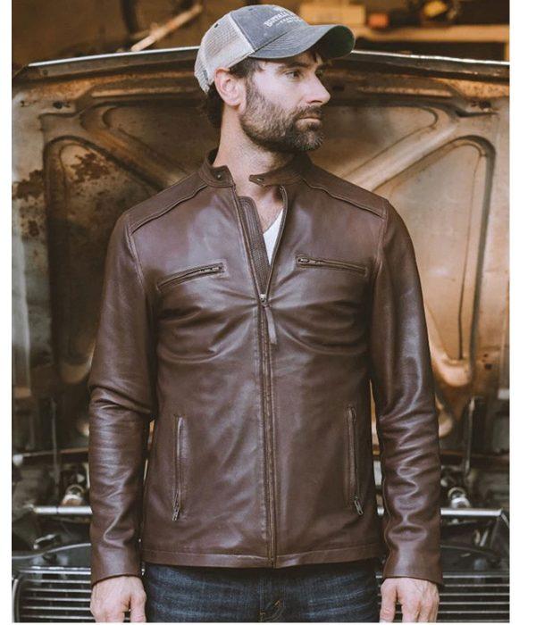 brown-leather moto-jacket