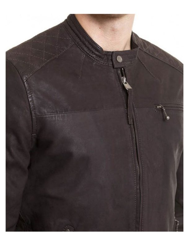 design-snap-tab-collar-brown-leather-jacket