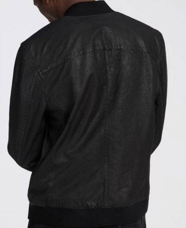 finn-cole-black-leather-jacket