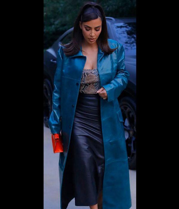 kim-kardashian-blue-leather-coat