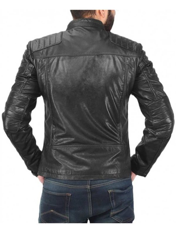 mens-casual-snap-tab-collar-quilted-leather-jacket