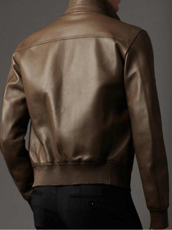 mens-slim-fit-flap-pockets-dark-leather-bomber-jacket