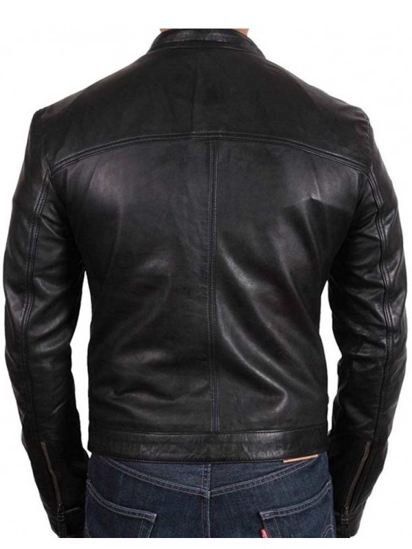 mens-snap-tab-collar-simplest-design-leather-jacket