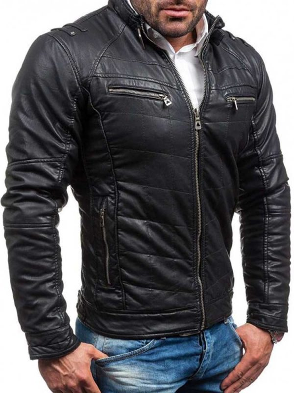 mens-stand-collar-belted-quilted-design-fit-leather-jacket