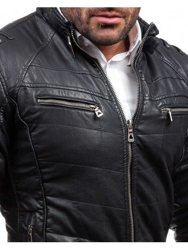 mens-stand-collar-belted-quilted-slim-fit-leather-jacket