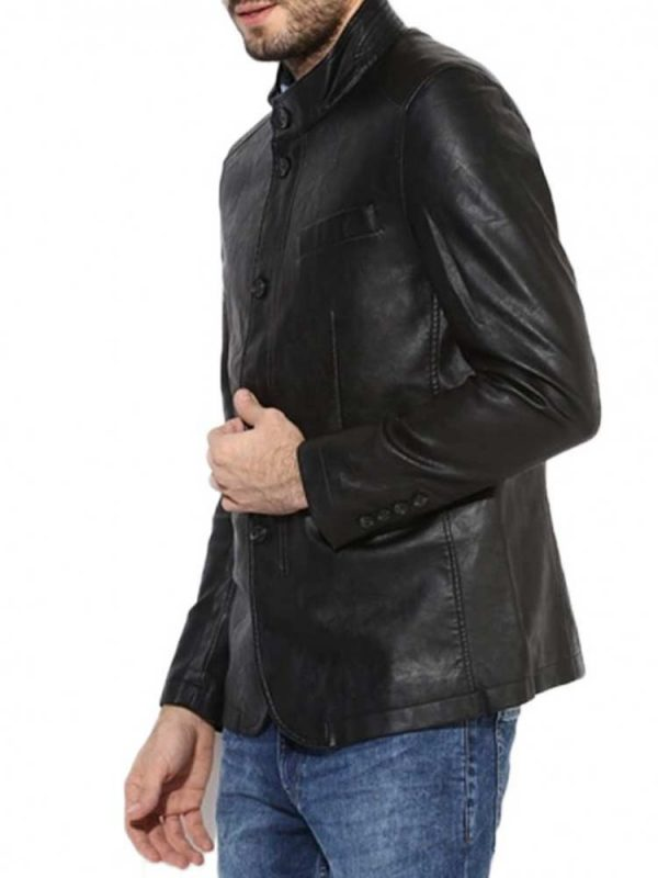 mens-stand-up-black-leather-jacket