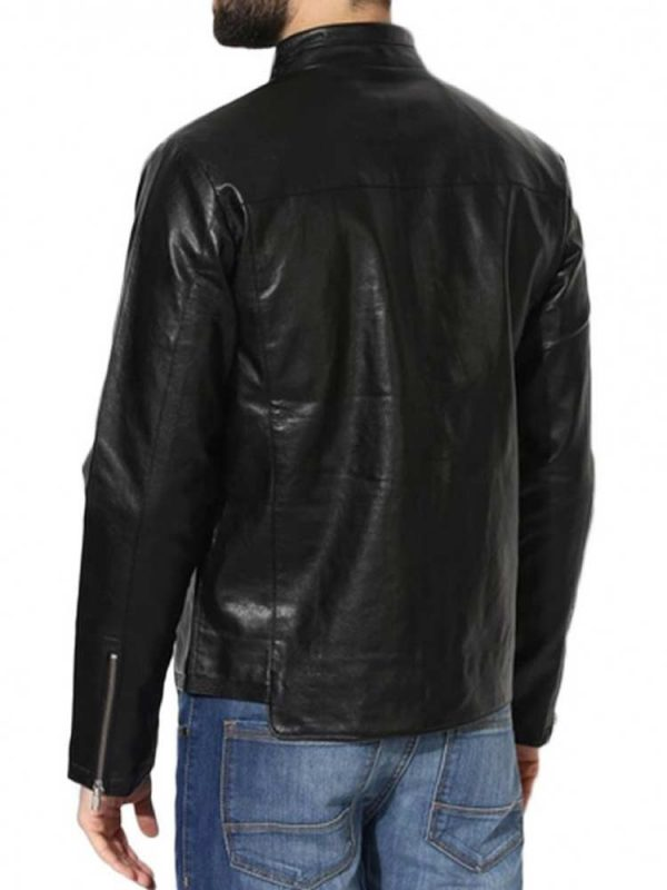 mens-stand-up-collar-casual-simple-leather-jacket