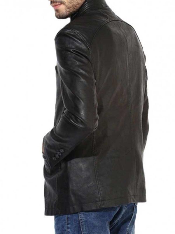 mens-up-collar-black-leather-jacket
