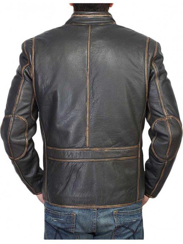 mens-waxed-design-snap-tab-collar-biker-black-leather-jacket