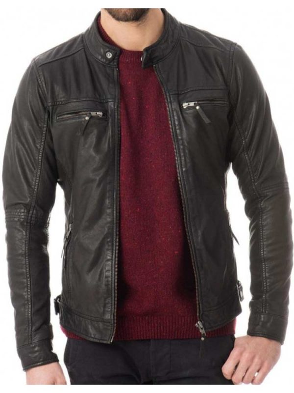 mens-zipper-pockets-casual-snap-tab-collar-leather-jacket