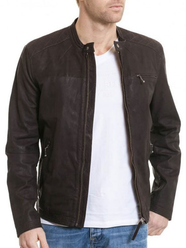 mens-zipper-tab-collar-brown-leather-jacket