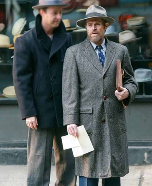 motherless-brooklyn-willem-dafoe-grey-coat