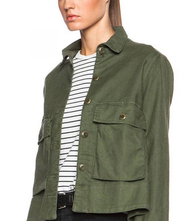shailene-woodley-army-green-jacket