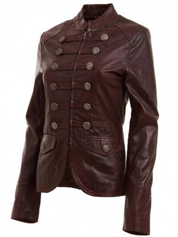 womens-designer-military-style-leather-jacket