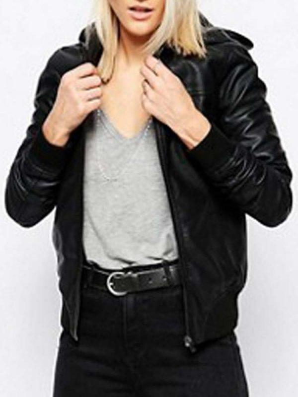 womens-renton-black-leather-hoodie