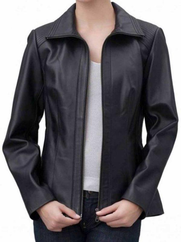 womens-shoulder-design-shirt-collar-quilted-jacket