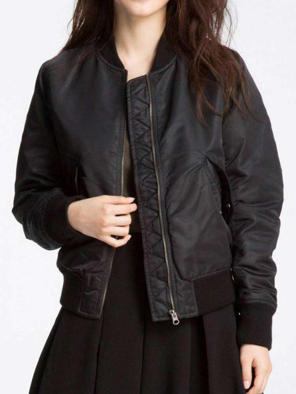 womens-black-bomber-jacket
